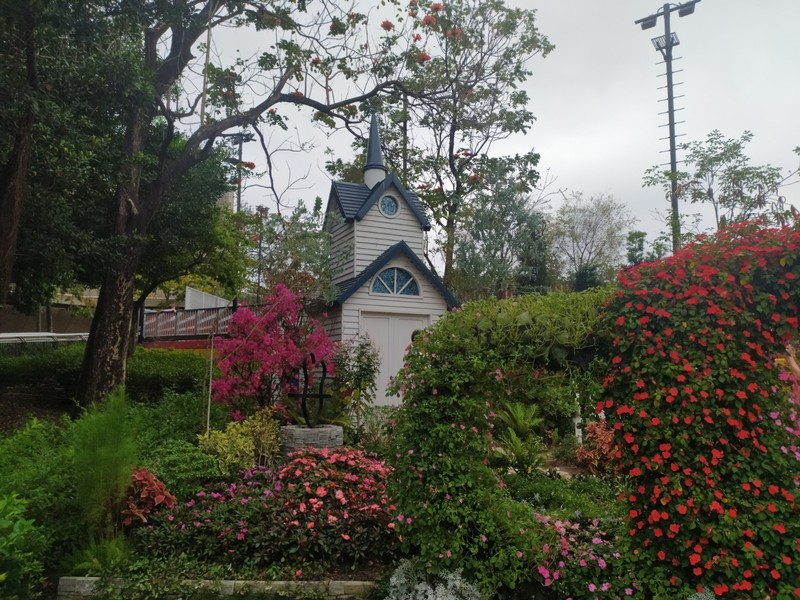 Church and Flowers.