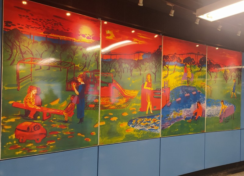 Art in the MTR.