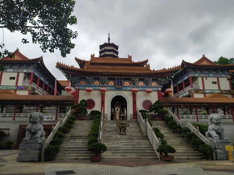 The monastery after the entrance gate.
