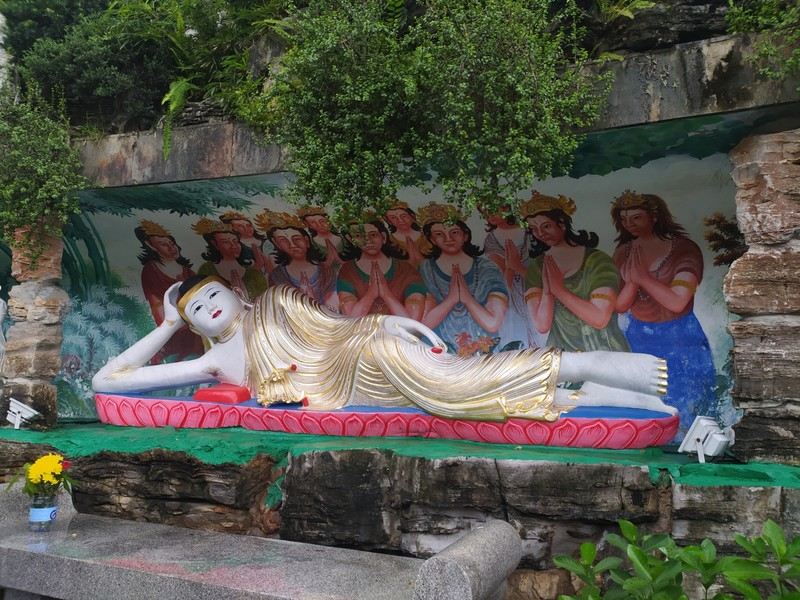 Buddha in the garden area.