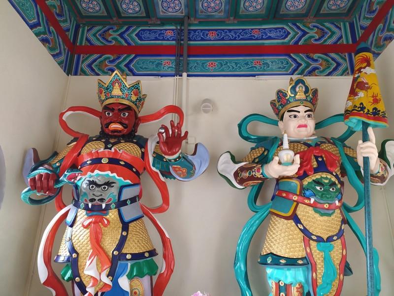 Guardians of the entranceway.