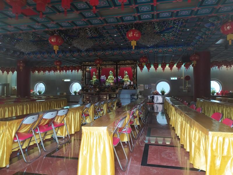 Inside a hall.