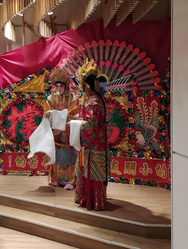 Dressing up as Chinese Opera Stars.