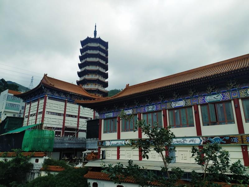Monastery building and pagoda.