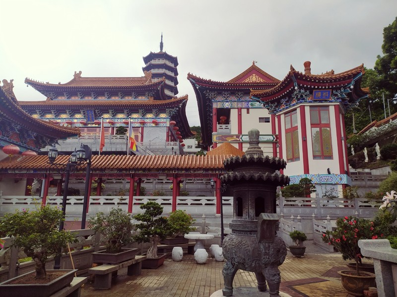 The inner monastery where the monks were chanting.