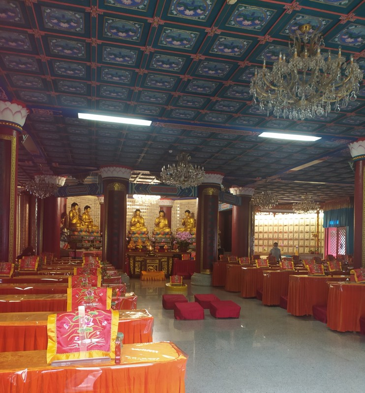 Inside one of the halls.