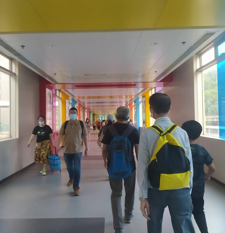 Multi coloured Tunnel Walkway.