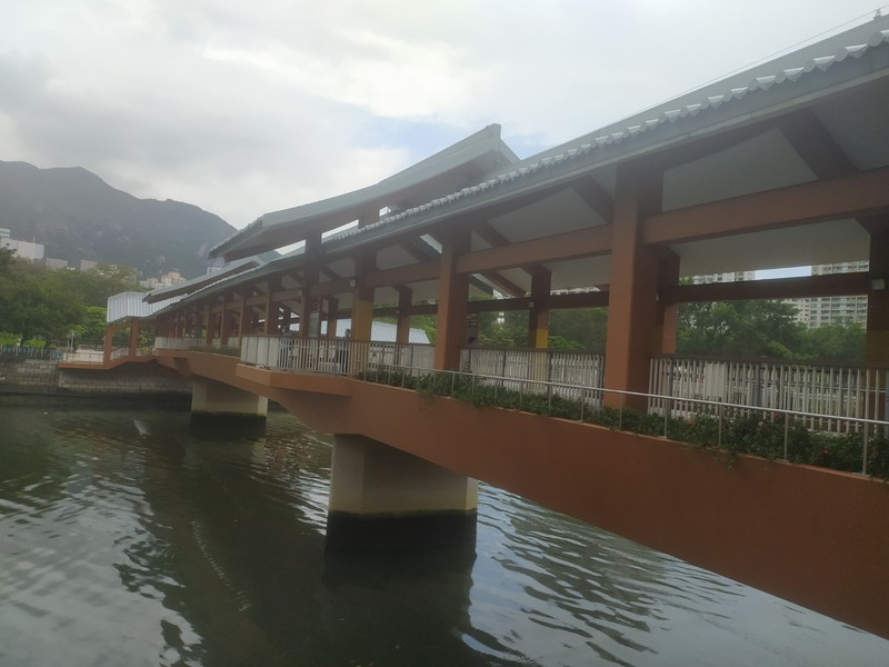Foot bridge across the Tuen Mun River.