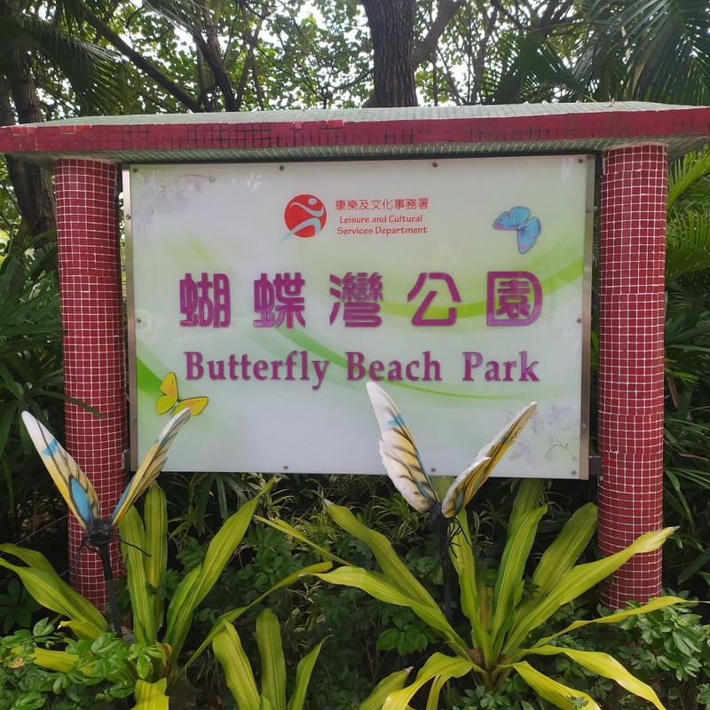 Next to the beach is Butterfly Beach Park.