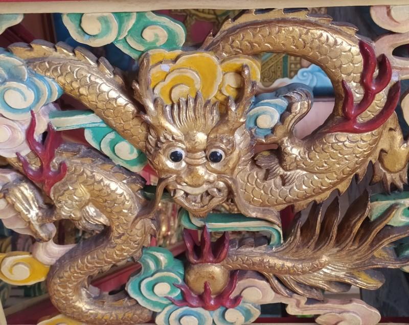 Close up of dragon image.