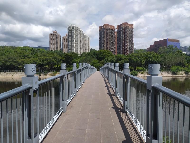 Pedestrian bridge near Tai Wai.
