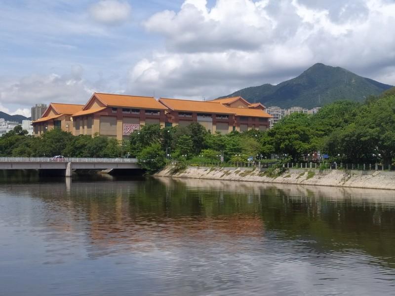 Looking towards the Heritage Museum in Tai Wai.