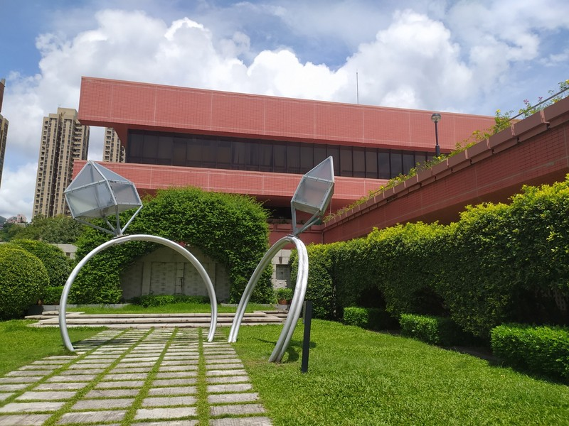 These sculptures look like rings and they are outside the marriage registery.