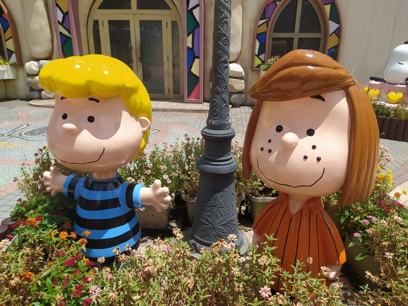 Peppermint Patty and Schroeder.