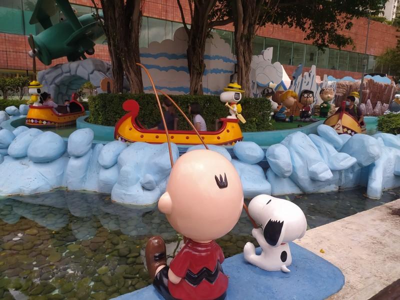 Charlie Brown fishing.
