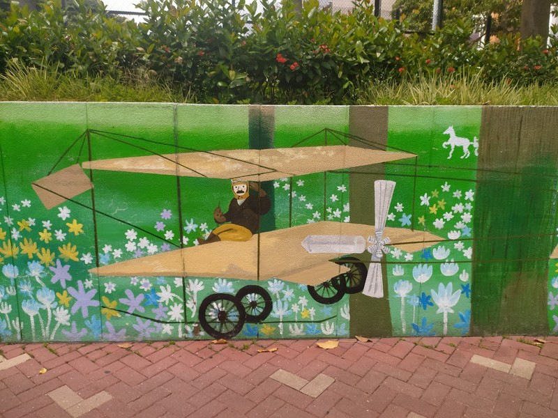 """The first flight in Hong Kong took place in Sha Tin Airfield at 5:10pm on 18th March, 1911 when Belgian, Charles Van den Born, flew a 1910 Farman Mk II bi-plane named """"Wanda"""",  over the fields and water of Tolo Harbour."""