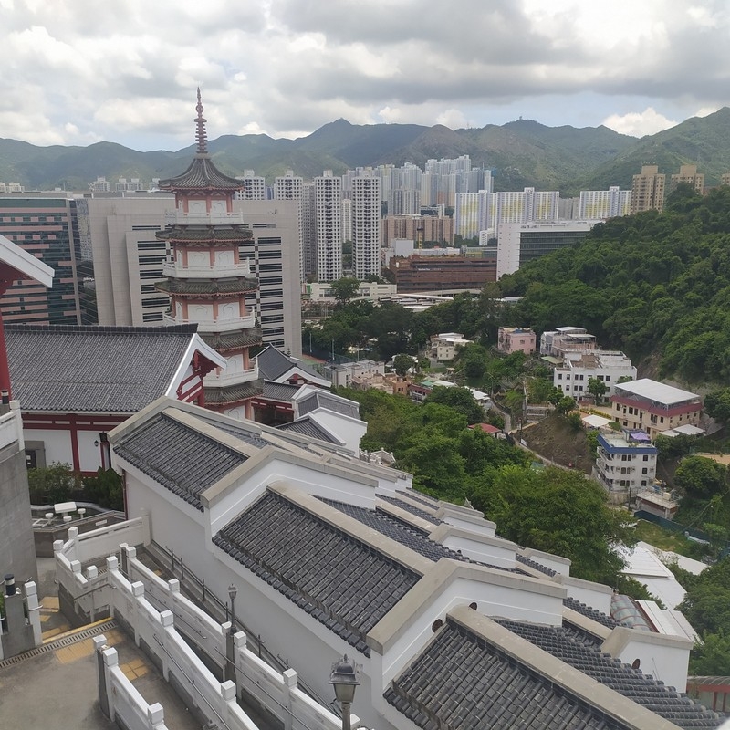 Pagoda and views.