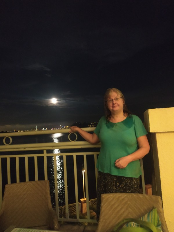 Me and the moon.
