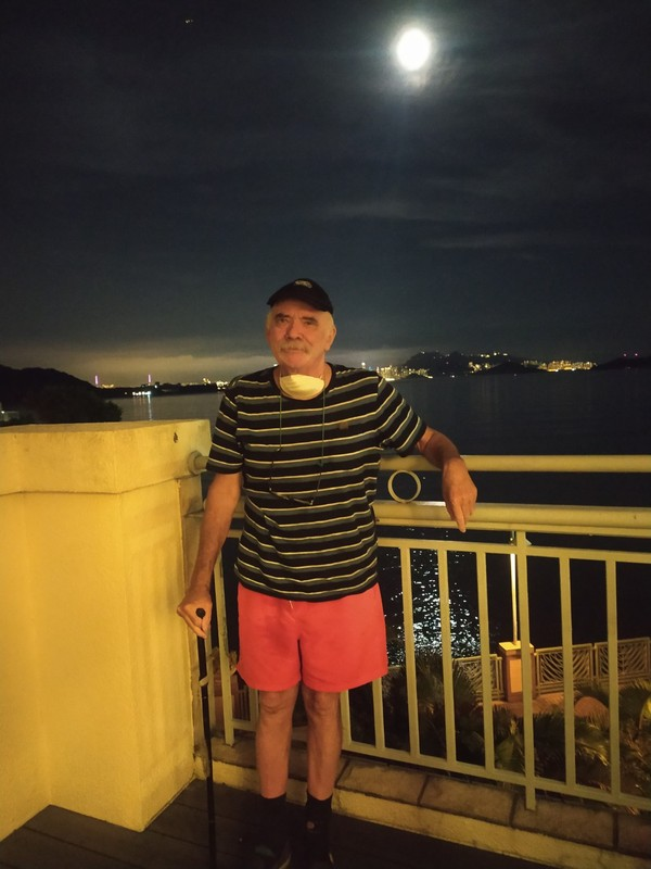 Peter with the moon.