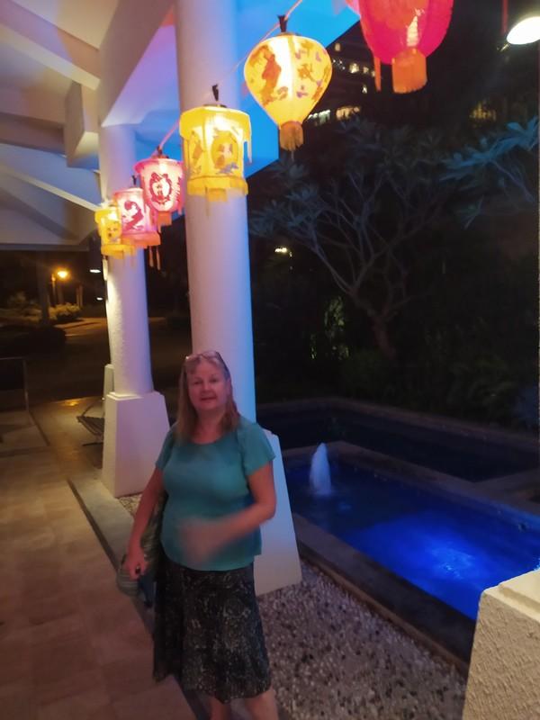 Me with lanterns.