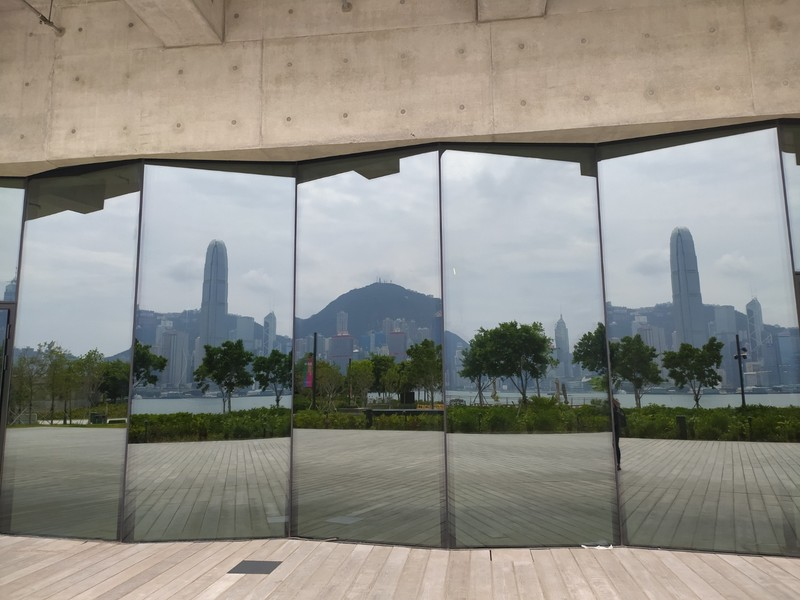 Reflections in the M  Arts Centre Window, West Kowloon Cultural District, Hong Kong.