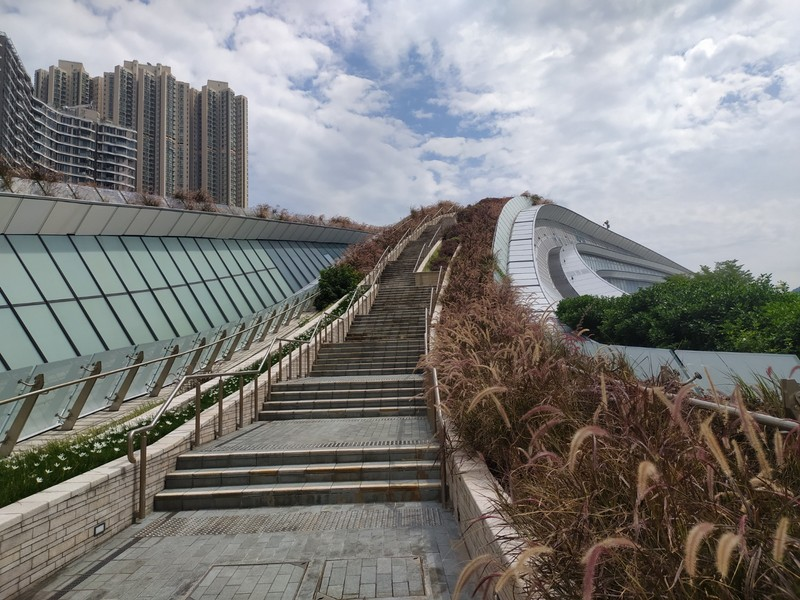 To the Viewing Point at the West Kowloon High Speed Rail Station.
