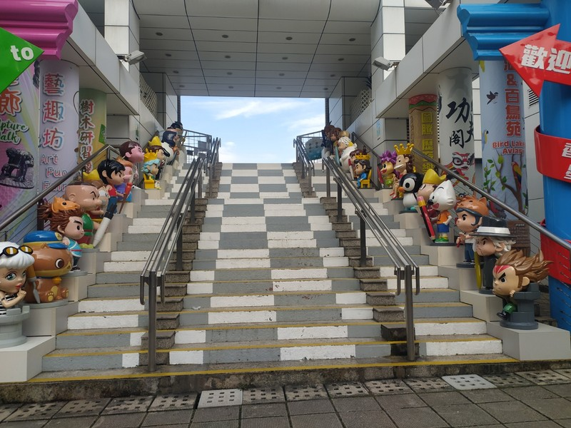 Stairway leading to Avenue of Comic Stars.
