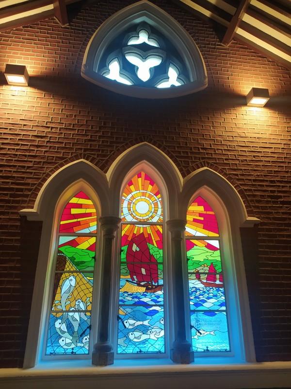 Stain Glass Window, Saint Andrew's Church, Kowloon.