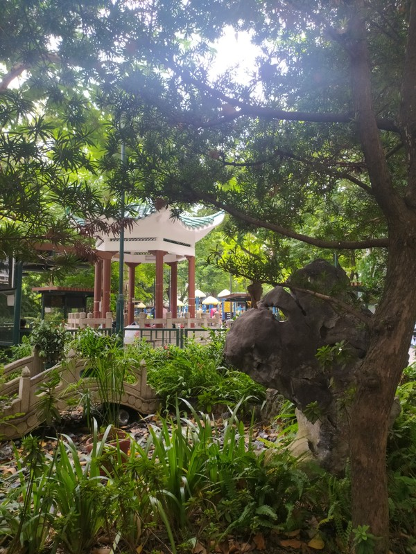 Chinese-style Building, King George V Memorial Park, Kowloon.