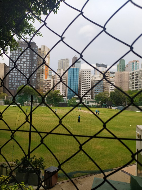 Its hard to get a good shot of the cricket field.