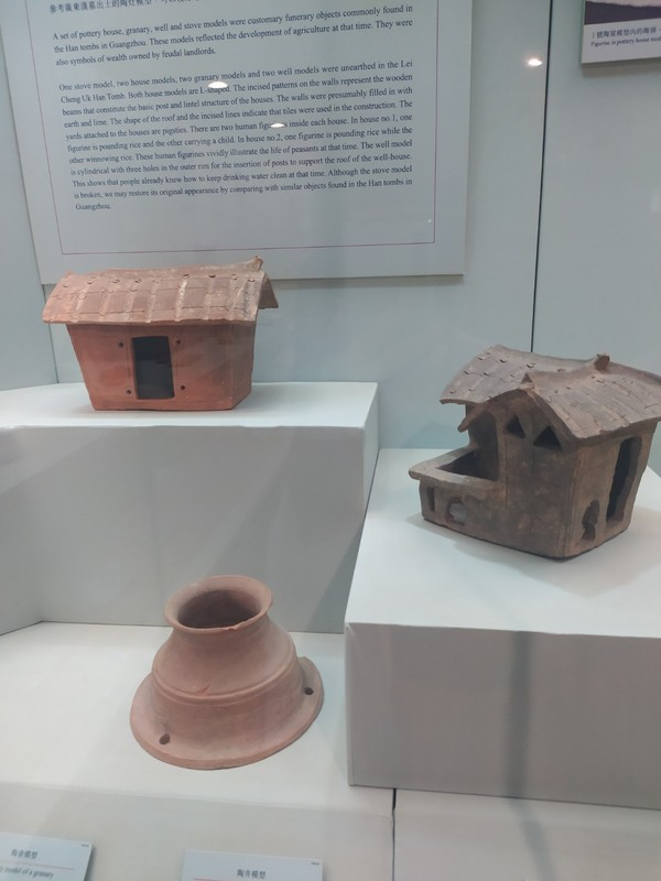 Pottery items found during the excavation.