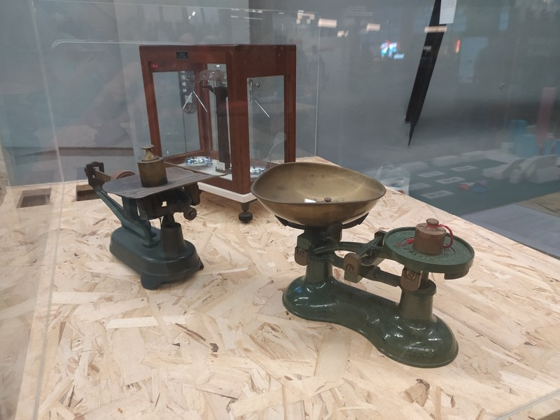 Old Weighing Machines on display in the Museum Part of Central Market.