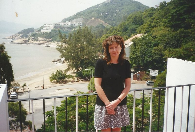 Me in the Pousada de Coloane when I was young. Cheoc Van Beach behind me.