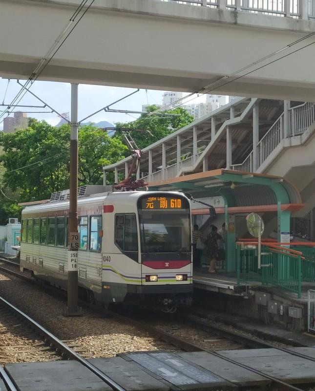 Light rail train.