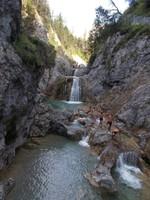 Climbing down Waterfalls, Reutte in Tirol, Austria.