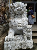Lion Statue. Marble Mountains
