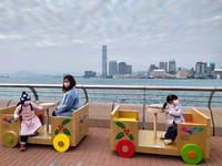 Toy Train, Waterfront Promenade, Wan Chai, Hong Kong.