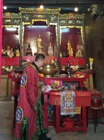 Taoist Priest, Shui Yuet Temple, Ap Lei Chau, Hong Kong.