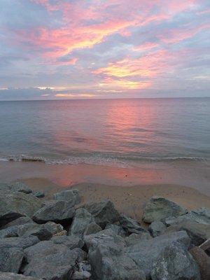 Bang Niang Beach at sunset