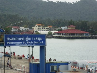 Arriving at Koh Samui, weather not great
