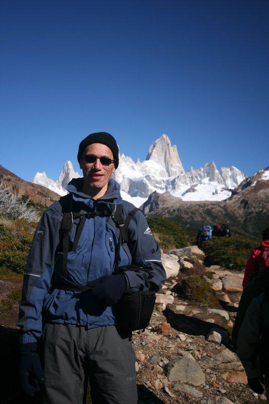Me in front of Mount Fitz Roy
