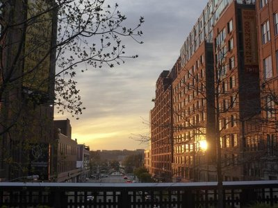The High Line: sunset