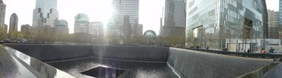one of the fountains at Ground Zero