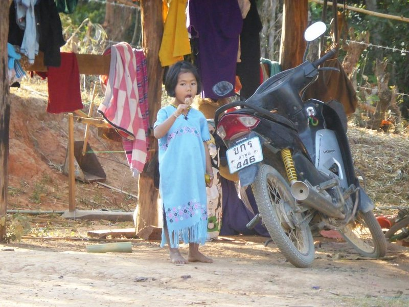 girl enjoying her sweets in the morning