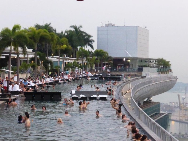 the infinity pool on the roof - for hotel guests only
