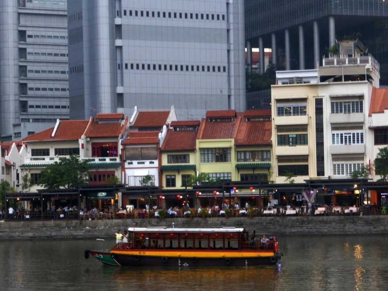 Boat Quay, close up from the other side