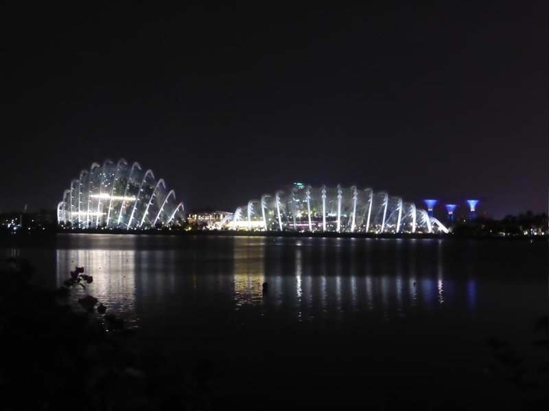 The two giant greenhouses from Gardens by the Bay
