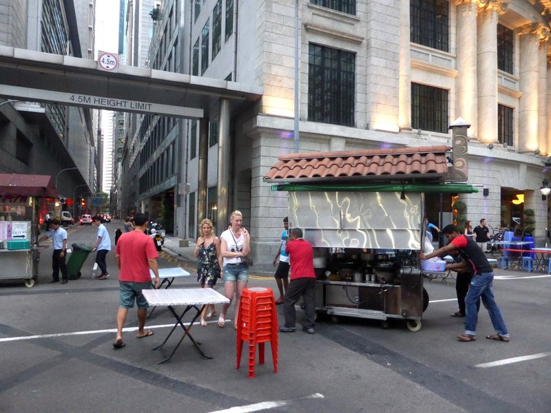 the satay street gets implemented