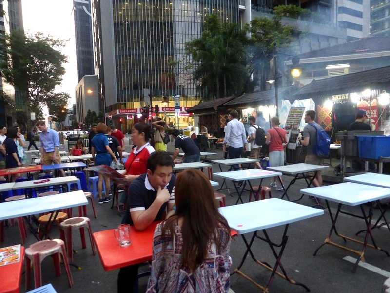 The satay street is set up