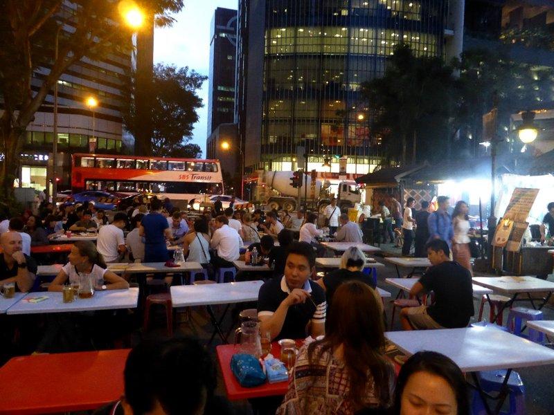 the satay street is underway